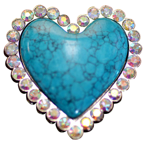 Blue turquoise Heart fitness button